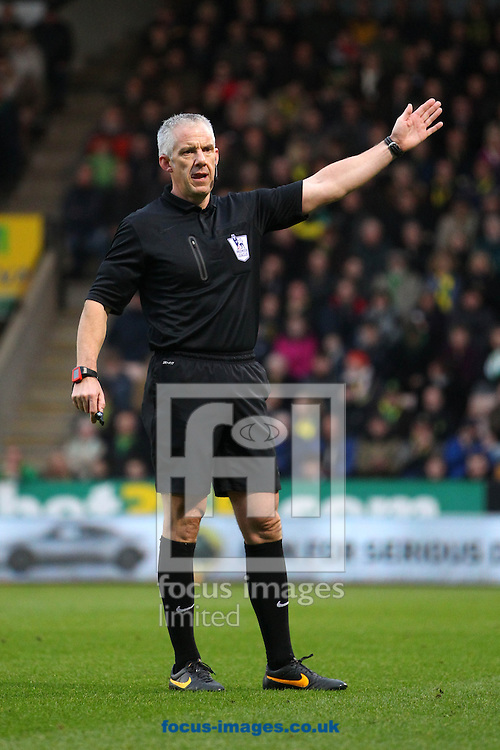 Picture by Paul Chesterton/Focus Images Ltd +44 7904 640267<br /> Referee Chris Foy during the Barclays Premier League match at Carrow Road, Norwich.