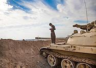 Iraq, Kurdistan, Kirkuk, kurdish kid on a tank