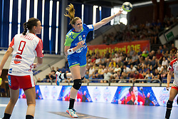 Ana Gros of Slovenia during handball match between Women national teams of Slovenia and Denmark in Round #5 of Qualifications for Women's EHF EURO 2018 Championship in France, on May 30, 2018 in Sports hall Golovec, Celje, Slovenia. Photo by Urban Urbanc / Sportida