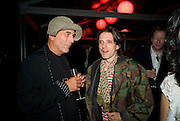 RON ARAD; JEREMY DELLER, The Summer Party. Hosted by the Serpentine Gallery and CCC Moscow. Serpentine Gallery Pavilion designed by Frank Gehry. Kensington Gdns. London. 9 September 2008.  *** Local Caption *** -DO NOT ARCHIVE-© Copyright Photograph by Dafydd Jones. 248 Clapham Rd. London SW9 0PZ. Tel 0207 820 0771. www.dafjones.com.