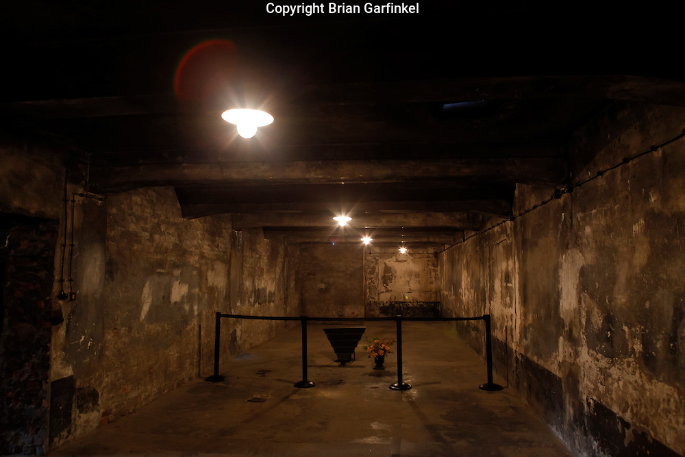Inside the gassing chamber in Crematorium #1 in Auschwitz Concentration Camp in Poland on Tuesday July 5th 2011.  (Photo by Brian Garfinkel)