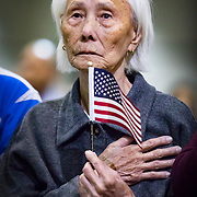 Hong Ing, 103 year old Cambodian immigrant, becomes a US citizen. She came to America in 2011.  She was on of over 10,000 immigrants who became US Citizens on August 22, 2017 in Los Angeles.