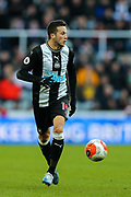 Javi Manquillo (#19) of Newcastle United in action during the Premier League match between Newcastle United and Burnley at St. James's Park, Newcastle, England on 29 February 2020.