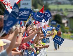 09.07.2015, Matrei, AUT, Österreich Radrundfahrt, 5. Etappe, Drobollach nach Matrei in Osttirol, im Bild Fans // Supporters during the Tour of Austria, 5th Stage, from Drobollach to Matrei in Osttirol, Matrei, Austria on 2015/07/09. EXPA Pictures © 2015, PhotoCredit: EXPA/ Johann Groder