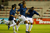FOOTBALL - UNDER 21 - INTERNATIONAL TOULON FESTIVAL 2011 - FINAL - COLOMBIA v FRANCE - 10/06/2011 - PHOTO PHILIPPE LAURENSON / DPPI - JOY J. MONROSE STEEVEN (FRA) AFTER HIS GOAL