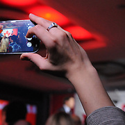 A Supporter grabs a phone photo of newly elected Prime Minister Justin Trudeau on election night 2015. (Cult MTL)
