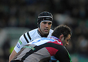 Twickenham, GREAT BRITAIN,  Opsreys, Jonathan THOMAS, [Black Cap], during the EDF. Energy Cup. between, Harlequins vs Ospreys at Twickenham Stoop.  02/12/2007 [Mandatory Credit Peter Spurrier/Intersport Images].