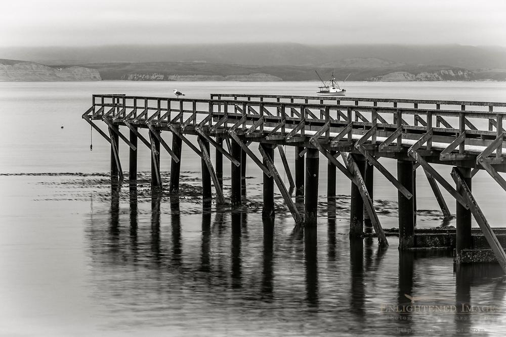 Pier at Drakes Bay, Point Reyes National Seashore, Marin County, California