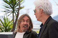 Iggy Pop and director Jim Jarmusch at the Gimme Danger film photo call at the 69th Cannes Film Festival Thursday 19th May 2016, Cannes, France. Photography: Doreen Kennedy
