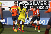 Mohamed Eisa and Glen Rea during the EFL Sky Bet League 2 match between Luton Town and Cheltenham Town at Kenilworth Road, Luton, England on 24 February 2018. Picture by Antony Thompson.