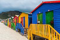 Colorful beach huts, Muizenberg, False Bay, Cape Town, South Africa.