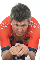 February 24, 2019 - Abu Dhabi, United Arab Emirates - Heinrich Haussler of Australia and Bahrain–Merida Team, seen ahead the Team Time Trial, the opening ADNOC stage of the inaugural UAE Tour 2019..On Sunday, February 24, 2019, Abu Dhabi, United Arab Emirates. (Credit Image: © Artur Widak/NurPhoto via ZUMA Press)