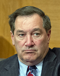 """October 3, 2017 - Washington, District of Columbia, United States of America - United States Senator Joe Donnelly (Democrat of Indiana) listens as Timothy J. Sloan, Chief Executive Officer and President, Wells Fargo & Company, testifies before the United States Senate Committee on Banking, Housing, and Urban Affairs as they conduct a hearing entitled, """"Wells Fargo: One Year Later'' on Capitol Hill in Washington, DC on Tuesday, October 3, 2017. .Credit: Ron Sachs / CNP (Credit Image: © Ron Sachs/CNP via ZUMA Wire)"""