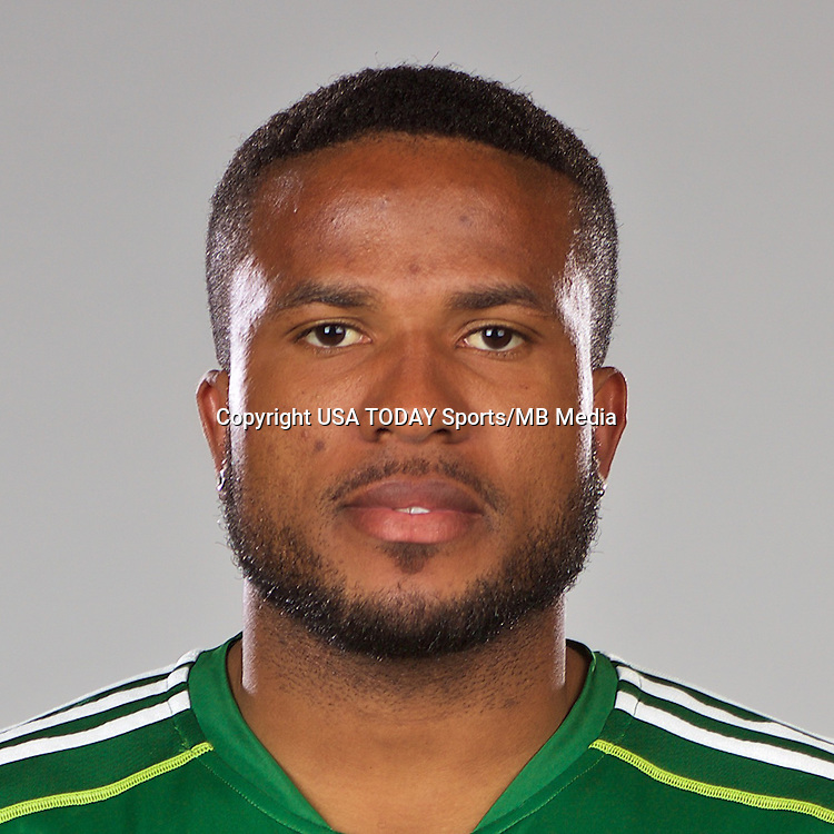 Feb 25, 2016; USA; Portland Timbers player Jermaine Taylor poses for a photo. Mandatory Credit: USA TODAY Sports