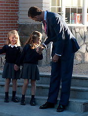 The Asturias Princess Felipe de Borbon and Letizia Ortiz
