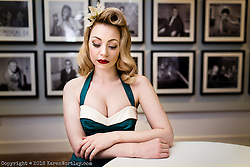 Ginger Koneko shot in 50's style at Yarmouth Time and Tide Museum for vintage Hair and Make up team Flamingo Amy & Love Moi