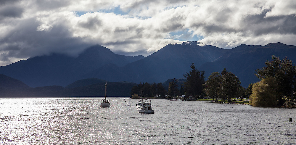 Lake Te Anau and the township of Te Anau - a surprisingly large and well resourced (groceries, outdoor gear, eating places) and beautiful step off point for the trek.