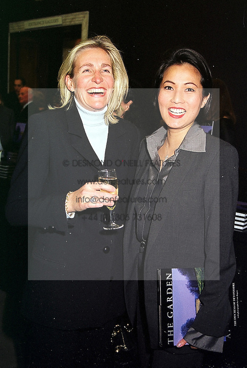Left to right, MRS NICHOLAS WENTWORTH-STANLEY and MRS ANDY WONG, at a party in London on 9th March 2000.OBZ 18
