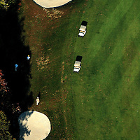 Aerial view of Tattersall Golf course