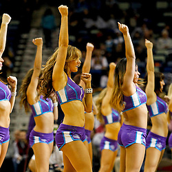 Dec 11, 2012; New Orleans, LA, USA; New Orleans Hornets Honeybees perfrom during the second half of a game against the Washington Wizards at the New Orleans Arena. The Wizards defeated the Hornets 77-70.  Mandatory Credit: Derick E. Hingle-USA TODAY Sports