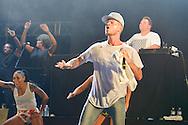 Kevin Bonnet as Keen'V concert during de Festival of Scenes sur Sambre, 29 august 2015, Thuin, Belgium