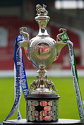 WREXHAM, WALES - Saturday, May 3, 2014: The Welsh Cup trophy pictured before the Welsh Cup Final between Aberystwyth Town and The New Saints at the Racecourse Ground. (Pic by David Rawcliffe/Propaganda)