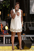 Singer Fantasia performs on the ABC Good Morning America Summer Concert Series in Bryant Park on Friday, July 13, 2007 in New York.