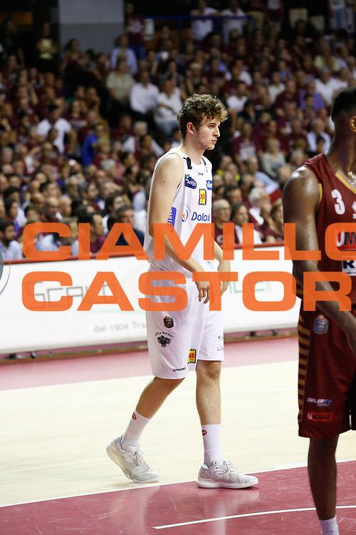 Isacco Lovisotto<br /> Umana Reyer Venezia - Dolomiti Energia Aquila Basket Trento<br /> Lega Basket Serie A 2016/17 Finali Gara 02<br /> Venezia, 12/06/2017<br /> Foto Ciamillo-Castoria / M. Brondi