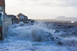 Stormy weather in East Lothian 11 January 2017; waves crash on the shoreline at Prestonpans.<br /> <br /> (c) Chris McCluskie | Edinburgh Elite media