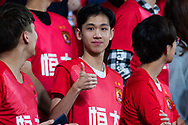 MELBOURNE, AUSTRALIA - APRIL 23: Guangzhou fan gestures at the camera during the AFC Champions League Group Stage match between Melbourne Victory and Guangzhou Evergrande at AAMI Park on April 23, 2019 in Melbourne, Australia. (Photo by Speed Media/Icon Sportswire)