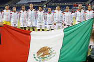 16 October 2014: Mexico's starters. The Mexico Women's National Team played the Costa Rica Women's National Team at Sporting Park in Kansas City, Kansas in a 2014 CONCACAF Women's Championship Group B game, which serves as a qualifying tournament for the 2015 FIFA Women's World Cup in Canada. Costa Rica won the game 1-0.