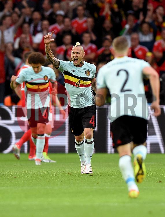 Radja Nainggolan of Belgium celebrates his goal  - Mandatory by-line: Joe Meredith/JMP - 01/07/2016 - FOOTBALL - Stade Pierre Mauroy - Lille, France - Wales v Belgium - UEFA European Championship quarter final