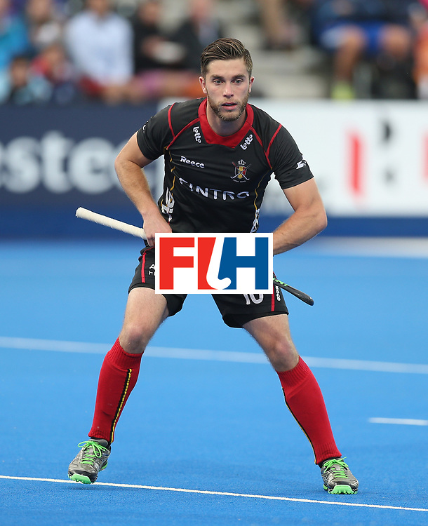 LONDON, ENGLAND - JUNE 16: Cedric Charlier of Belgium during the FIH Mens Hero Hockey Champions Trophy match between Great Britain and Belgium at Queen Elizabeth Olympic Park on June 16, 2016 in London, England.  (Photo by Alex Morton/Getty Images)