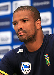 South Africa's Vernon Philander speaks to the media after the nets session at Lord's, London.