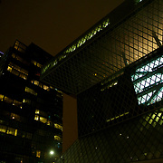 The amazing Seattle Central library at night...backlit knowledge