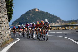 Lizzie Armitsead drives the pace on the approach to Alassio at Giro Rosa 2016 - Stage 6. A 118.6 km road race from Andora to Alassio, Italy on July 7th 2016.