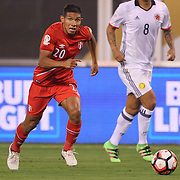 EAST RUTHERFORD, NEW JERSEY - JUNE 17:  Edison Flores #20 of Peru in action during the Colombia Vs Peru Quarterfinal match of the Copa America Centenario USA 2016 Tournament at MetLife Stadium on June 17, 2016 in East Rutherford, New Jersey. (Photo by Tim Clayton/Corbis via Getty Images)