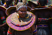 An elderly pokot woman in northern Kenya.