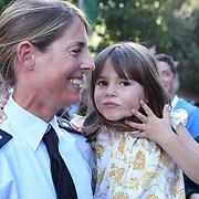 Roma 25/05/2018 Piazza di Siena<br /> 86 CSIO Piazza di Siena<br /> Giulia Martinengo Marque &igrave;t festeggia con la figlia Bianca