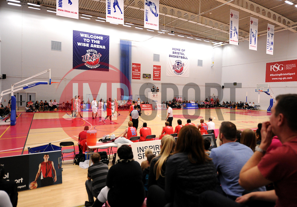 A general view of play during the BBL match between Bristol Flyers and Newcastle Eagles on 10 October 2015 in Bristol,  - Photo mandatory by-line: Paul Knight/JMP - Mobile: 07966 386802 - 10/10/2015 - BASKETBALL - SGS Wise Arena - Bristol, England - Bristol Flyers v Newcastle Eagles - British Basketball League