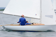 _V0A8313. ©2014 Chip Riegel / www.chipriegel.com. The 2014 Bullseye Class National Regatta, Fishers Island, NY, USA, 07/19/2014. The Bullseye is a Nathaniel Herreshoff designed 15' Marconi rig sailing boat.
