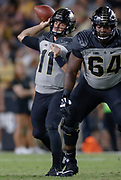 WEST LAFAYETTE, IN - SEPTEMBER 15: David Blough #11 of the Purdue Boilermakers passes the ball during the second half of the game against the Missouri Tigers at Ross-Ade Stadium on September 15, 2018 in West Lafayette, Indiana. (Photo by Michael Hickey/Getty Images) *** Local Caption *** David Blough NCAA Football - Purdue Boilermakers vs Missouri Tigers at Ross-Ade Stadium in West Lafayette, Indiana. Sports photographer by Michael Hickey