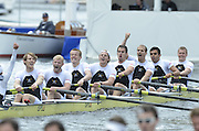 Henley, GREAT BRITAIN,  Molesey BC.,  celebrate winning the Thames Challenge Cup at 2012 Henley Royal Regatta. 2012 Henley Royal Regatta. ..Sunday  11:57:29  01/07/2012. [Mandatory Credit, Peter Spurrier/Intersport-images]...Rowing Courses, Henley Reach, Henley, ENGLAND . HRR.