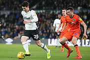 Derby County forward David Nugent runs at goal during the EFL Sky Bet Championship match between Derby County and Millwall at the Pride Park, Derby, England on 20 February 2019.