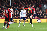 Lewis Cook (16) of AFC Bournemouth chests the ball to control it during the Premier League match between Bournemouth and Tottenham Hotspur at the Vitality Stadium, Bournemouth, England on 11 March 2018. Picture by Graham Hunt.