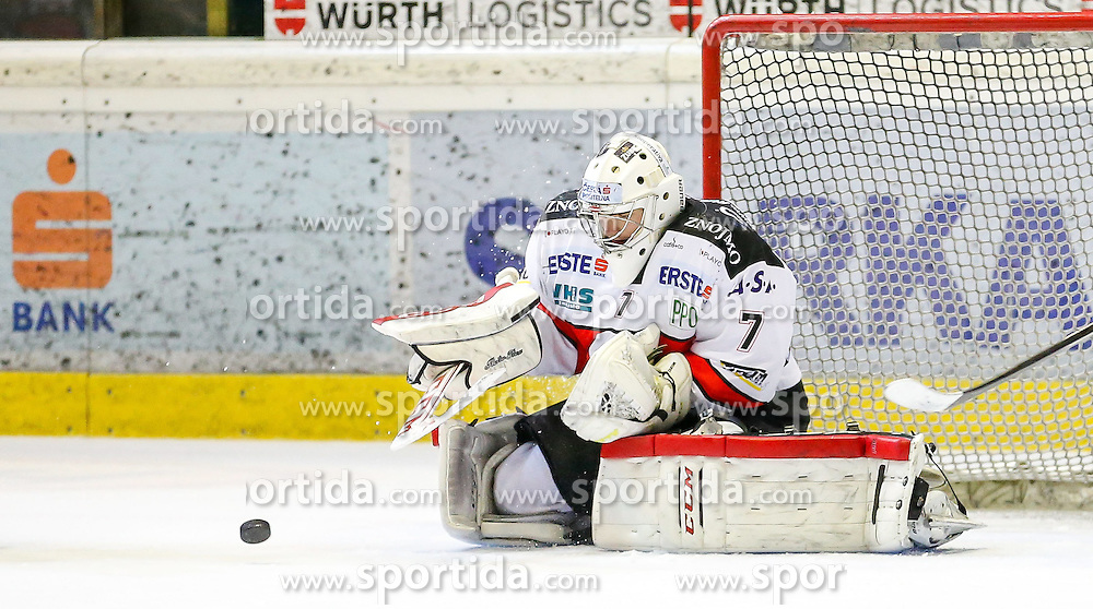 06.01.2015, Messestadion, Dornbirn, AUT, EBEL, Dornbirner EC vs HC Orli Znojmo, 36. Runde, im Bild Patrik Nechvatal, (HC Orli Znojmo, #07) // during the Erste Bank Icehockey League 36th round match between Dornbirner EC and HC Orli Znojmo at the Messestadion in Dornbirn, Austria on 2015/01/06, EXPA Pictures © 2015, PhotoCredit: EXPA/ Peter Rinderer
