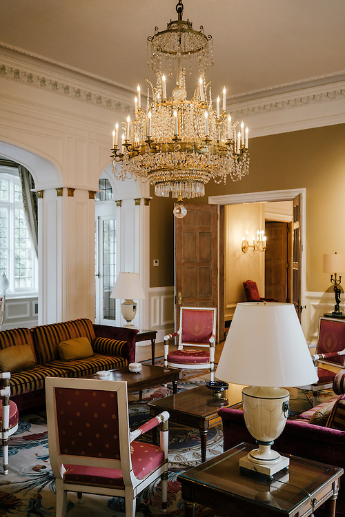 The salon Empire (Empire room) of the French Ambassador's residence in the Kalorama neighborhood of Washington D.C. France acquired the residence in 1936.