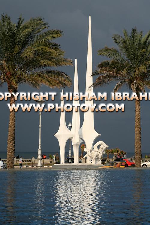 Mermaid Statue, El Silsila, Alexandria, Egypt