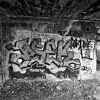 Graffiti on interior of Concrete City building