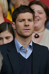Liverpool, England - Sunday, October 7, 2007: Liverpool's Xabi Alonso watches from the stands during the Premiership match against Tottenham Hotspur at Anfield. (Photo by David Rawcliffe/Propaganda)